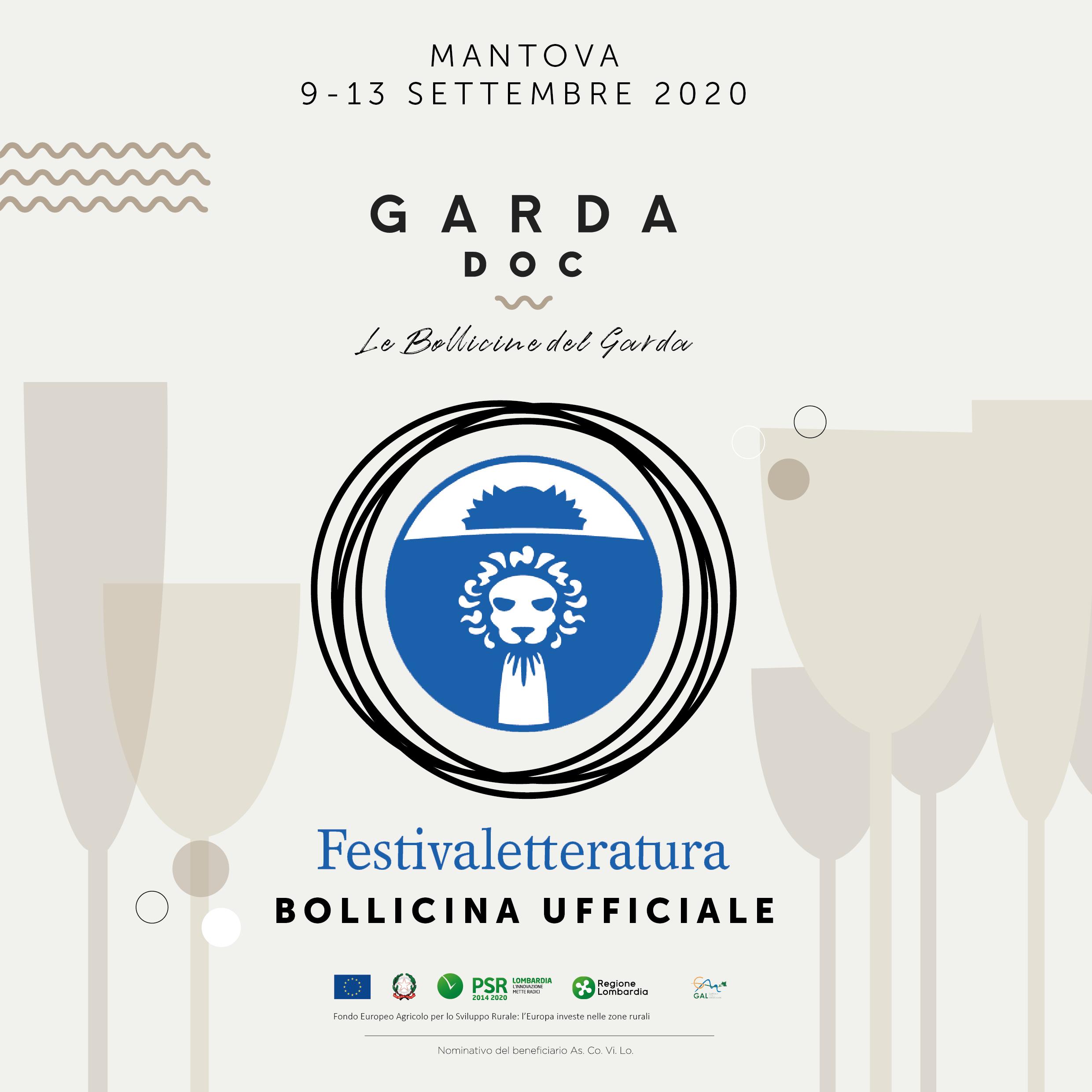 Mantova 9-13 settembre 2020 festival della letteratura e Garda doc